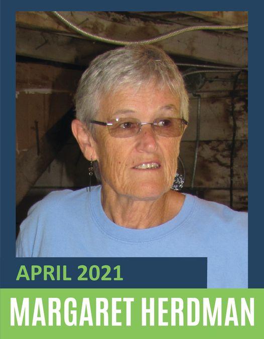 April Volunteer of the Month Marg Herdman